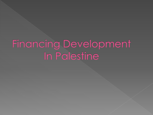 Financing for Development in Palestine