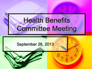 Health Benefits Committee Meeting September 26, 2013