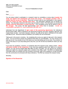 Social and Behavioral Research Informed Consent Cover Letter (DOCX)