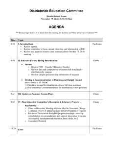 AGENDA Districtwide Education Committee District Board Room November 19, 2010, 8:30-10:30am