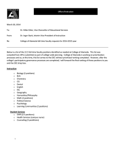 COA FT Faculty Position Requests 2014