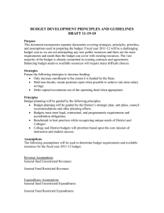 PBC Revised Budeget Development Principles and Guidelines