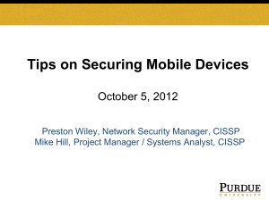 Tips on Securing Mobile Devices