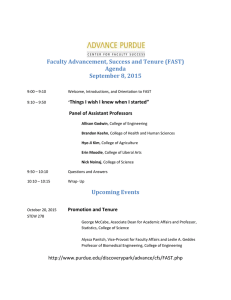 Faculty Advancement, Success and Tenure (FAST) Agenda September 8, 2015