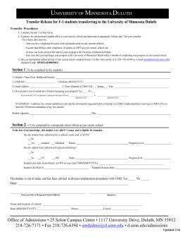 university of minnesota application form