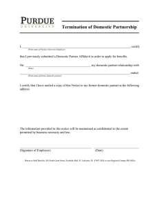 Termination of Domestic Partnership