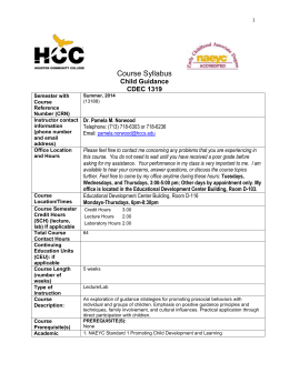 CDEC 1319 New Syllabus Format Summer 2014.doc