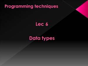 Lec 6 Data types