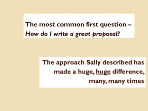 How Do I Write a Grant Proposal?