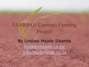 FANRPAN Contract Farming Project By Lindiwe Majele Sibanda