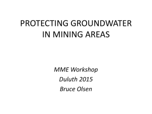 Groundwater Protection in Mining Area