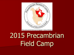2015 Precambrian Field Camp