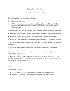 Dec 3, 2014 Meeting Notes