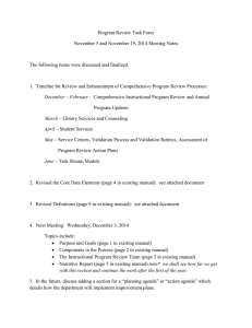 Nov 5 and Nov 19, 2014 Meeting Notes