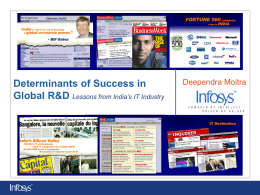Determinants of Success in Global R D: Lessons from India's IT Industry