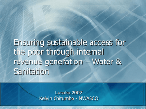 Kelvin Chitumbo, Ensuring sustainable access for the poor through internal revenue generation – Water Sanitation