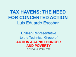 A Chilean Perspective on Tax Havens and Tax Elusion: The need for internationally harmonised responses