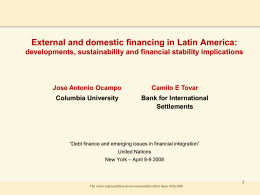 External and domestic financing in Latin America: Jose Antonio Ocampo