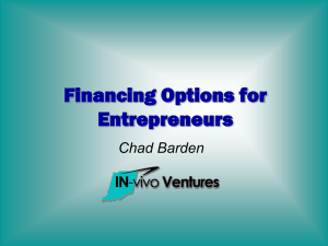 Financing Options for Entrepreneurs by Chad Barden