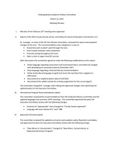 Undergraduate Academic Policies Committee March 12, 2015 Meeting Minutes