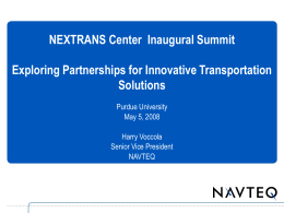 Harry Voccola, Senior Vice President Government and Industry Relations, NAVTEQ