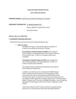 Assessment Report Standard Format July 1, 2011-June 30, 2012  PROGRAM ASSESSED: