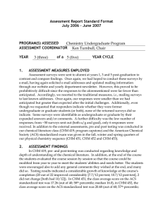 Assessment Report Standard Format July 2006 – June 2007  PROGRAM(S) ASSESSED