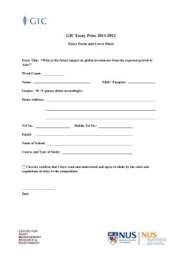 cover sheet essay