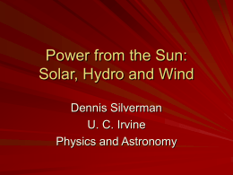 Solar, Hydro and Wind Energy (Powerpoint)