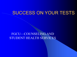 Test Anxiety ppt