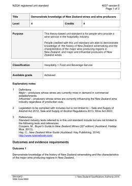 NZQA registered unit standard 4637 version 8  Page 1 of 3
