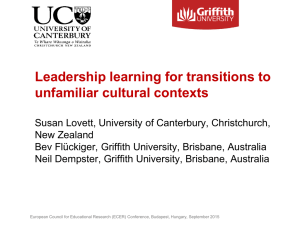 Leadership learning for transitions to unfamiliar cultural contexts