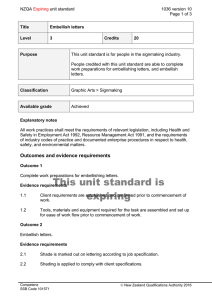 NZQA unit standard 1036 version 10