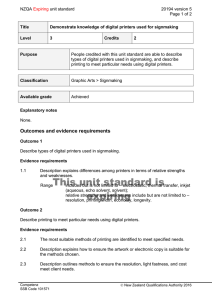 NZQA unit standard 20194 version 5