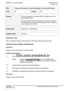 NZQA unit standard 1039 version 10