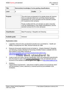 NZQA unit standard 2511 version 9