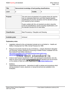 NZQA unit standard 2512 version 9