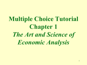 The Art and Science of Economics Analysis
