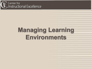 Managing Learning Environments STEAM