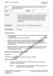 NZQA unit standard 2330 version 5