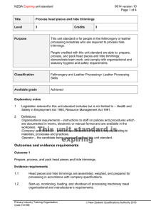 NZQA unit standard 8014 version 10