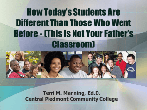 Piedmont Community College Afternoon Session (PowerPoint)