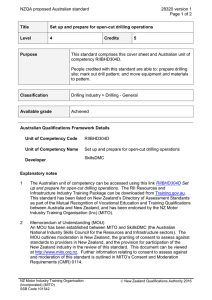 NZQA proposed Australian standard 28320 version 1  Page 1 of 2