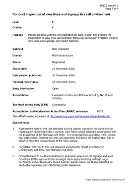 Unit of competency details