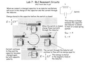 Lab 7:  RLC Resonant Circuits