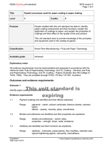NZQA unit standard 5676 version 5