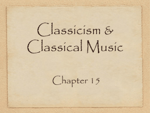 Classicism & Classical Music Chapter 15