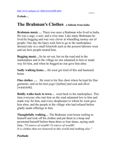 The Brahman's Clothes