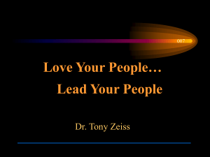 Love Your People… Lead Your People Dr. Tony Zeiss 007