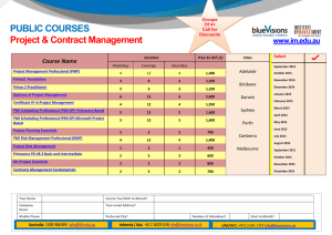 PUBLIC COURSES Project & Contract Management  www.im.edu.au